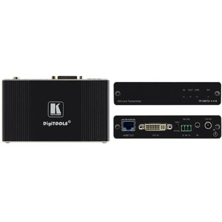 Kramer TP-580TD 4K60 4:2:0 DVI HDCP 2.2 Transmitter with RS-232 & IR over Long-Reach HDBaseT