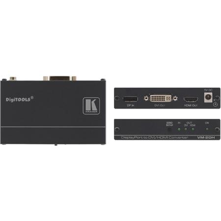 Kramer VM-2DH DisplayPort to DVI/HDMI Format Converter