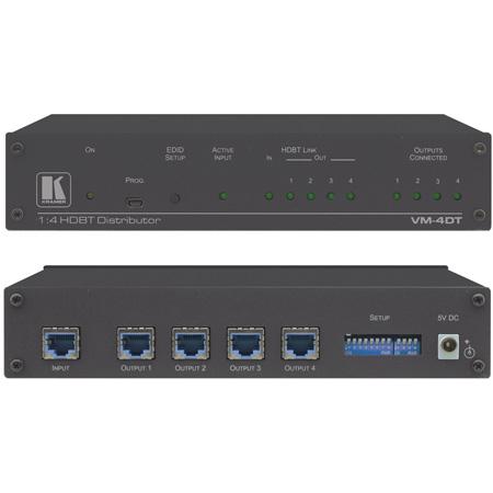 Kramer VM-4DT 4K (4:2:0) 1:4 Long-Reach HDBaseT Extender/Distribution Amplifier