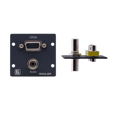 Kramer WXA-2P 15-pin HD 3.5mm Stereo Audio Wall Plate Insert - Black