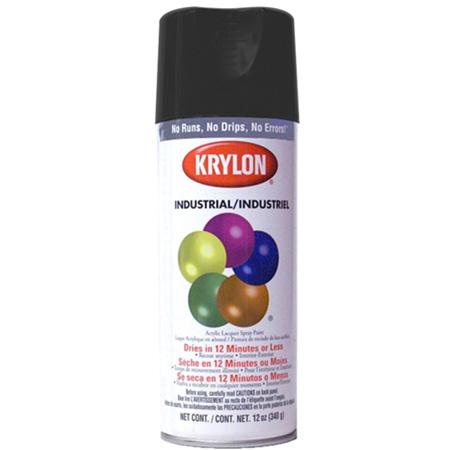 Krylon Flat Black Spray Paint 12 Ounce