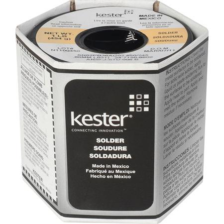 Kester 2% Silver Solder 21AWG 031 Diameter One Pound Roll
