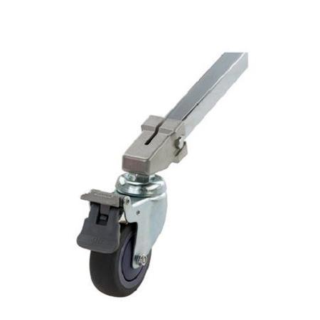 Kupo KS940422 80mm Caster w/ Brake - 22mm Square Adapter - Set of 3