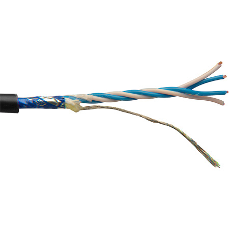Canare L-4E5AT Permanent Install Star-Quad Mic Cable by the Foot Black