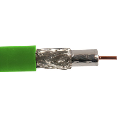 Canare L-5CFB 75 Ohm Digital Video Coaxial Cable RG-6 Type 984ft Roll - Green