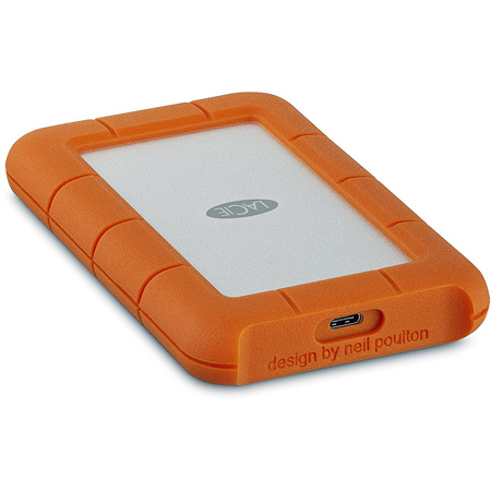 LaCie STFR1000800 1TB Rugged Portable Hard Drive - USB-C - Orange