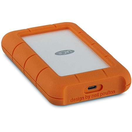 LaCie STFR4000800 4TB Rugged Portable Hard Drive - USB-C - Orange
