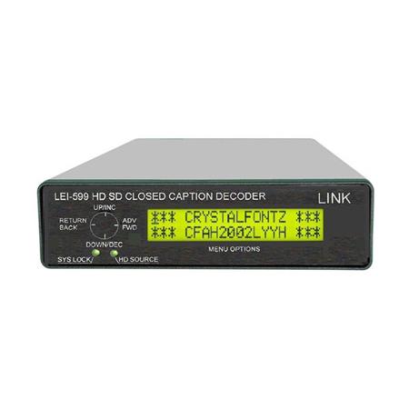 Link Electronics LEI-599 SD/HD SDI Closed Caption Decoder