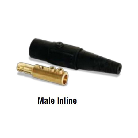 LEX CLS40MBA 400 Amp Cam-Type 16 Series Male Inline Connector 2/0 - 4/0 AWG - Black