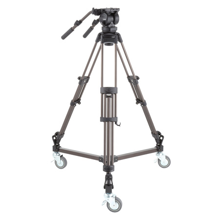 Libec LX10 Studio  Professional 2-Stage Aluminum Tripod System w/ Dolly