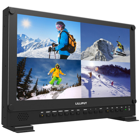 Lilliput BM150-4KS-VBP 15.6-Inch 4K HDMI Carry-On Broadcast Monitor With SDI HDR and 3D LUTS (V-Mount)