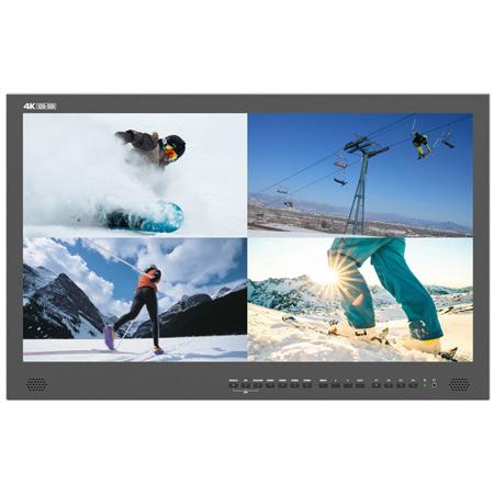 Lilliput BM280-12G-ABBP 28-Inch 12G-SDI 4K Broadcast Director Monitor with 12G-SDI and 4K HDMI Inputs - Gold Mount
