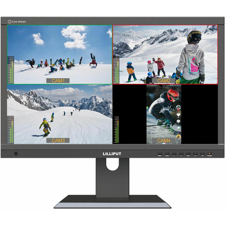 Lilliput PVM220S 21.5 inch 1920x1080 Live Stream Quad Split Multi View IPS Monitor