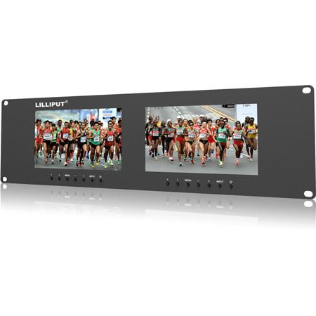 Lilliput LIL-RM-7024 VD 3RU Dual 7 Inch Rack Monitor with Dual VGA/Video/DVI