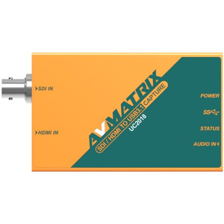 AVMATRIX UC2018 SDI and HDMI to USB 3.1 Video Capture 1080p60