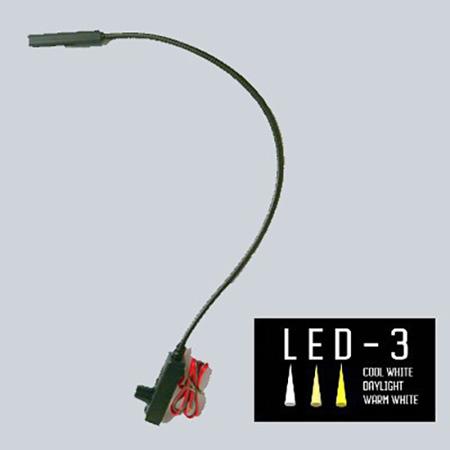 Littlite L-9/18-LED-3 Lampset Top Mount 18-inch Gooseneck Console Light w/ Automotive Wiring Kit
