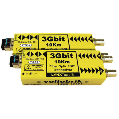LYNX Technik Yellobrik OBD 1810 SD/HD/3G - Bidirectional SD / Fiber Transceiver