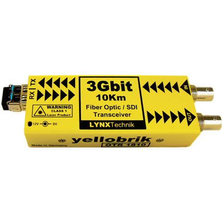 LYNX Technik Yellobrik OTR 1810 MM 3Gbit Fiber Optic/ SDI Tranceiver - Multimode