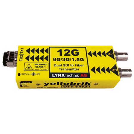 LYNX Technik OTT-1412 Dual Channel 12G SDI to Fiber Optic Transmitter
