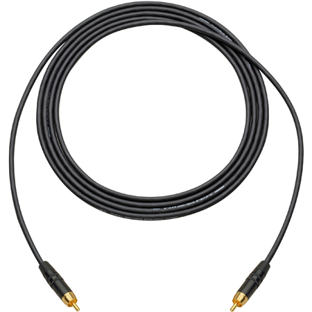 Sescom LOPRO-RCA-18IN Audio Cable LoProfile Mogami Star-Quad RCA Male to RCA Male - 1.5 Foot