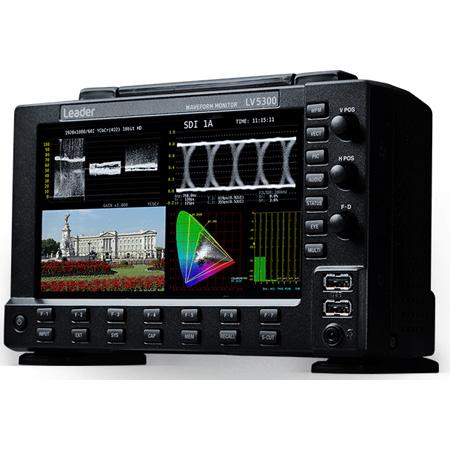 Leader LV5300 7-inch Full HD Waveform Monitor with Touch Panel & SDI Inputs - SD-SDI/HD-SDI/3G-SDI & 12G-SDI Single Link