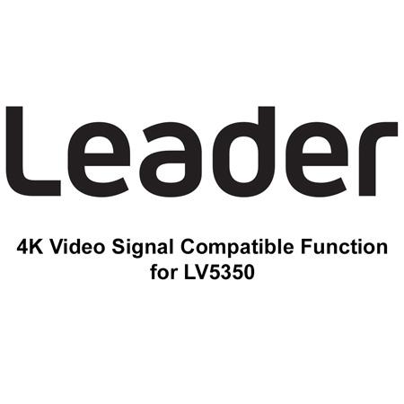 Leader LV5350-SER28 4K 12G-SDI option for LV5350 Waveform Monitor - Download