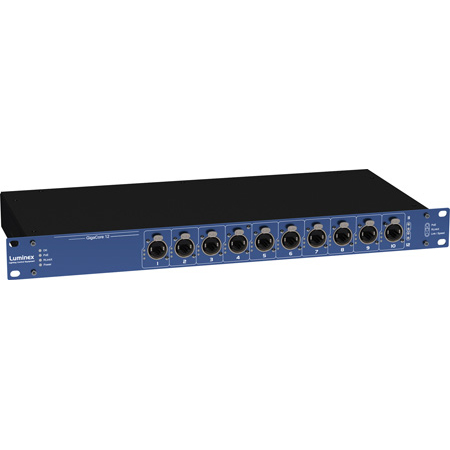 Luminex GigaCore 12POE Rackmount Touring 12-Port EtherCON POE Gigabit Ethernet Switch  Dante Switch  AES67 Switch