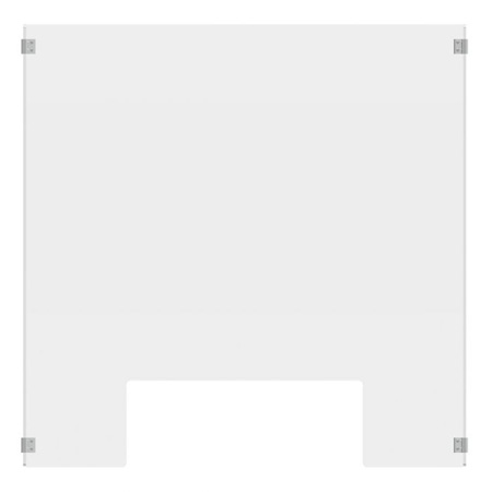 Luxor DIVCU-2430C RECLAIM Acrylic Sneeze Guard 24x30-Inch Clear Divider with Cutout & with 8x30-Inch Side Panels