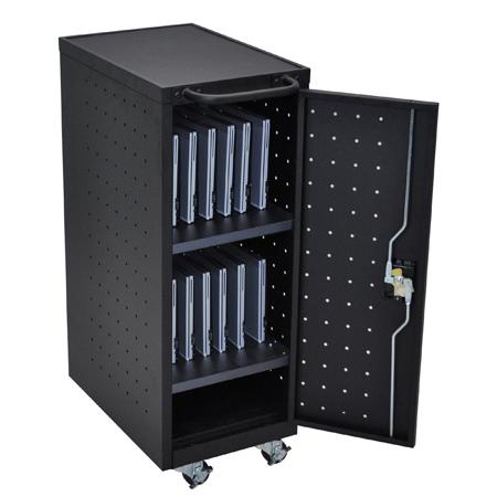 Luxor LLTP12-B 12 Laptop/Chromebook Computer Charging Cart