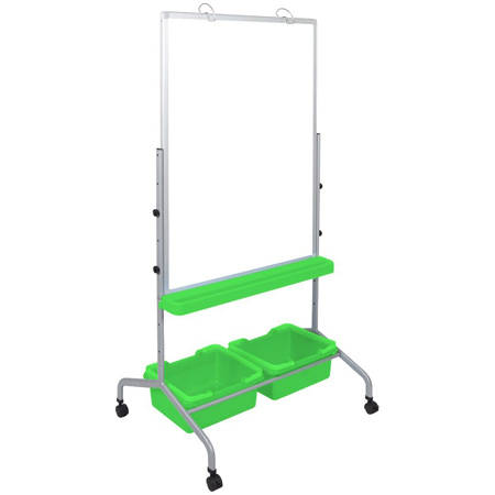 Luxor MB3040WBIN Classroom Chart Stand with Storage Bins