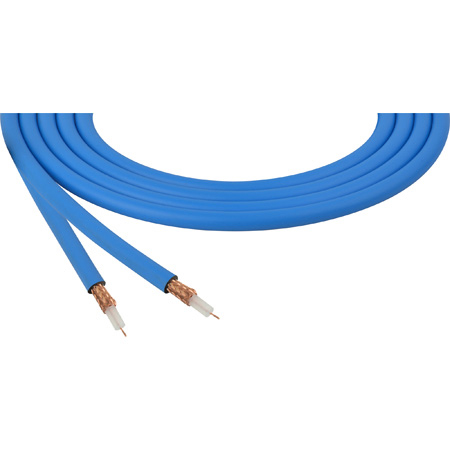 Canare LV-61S RG59 75 Ohm Video Coaxial Cable by the Foot - Blue Chroma Key Blue Compatible