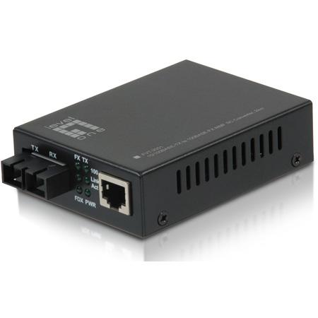 LevelOne FVT-2001 RJ45 to SC Fast Ethernet Media Converter - Multi-Mode Fiber - 2km