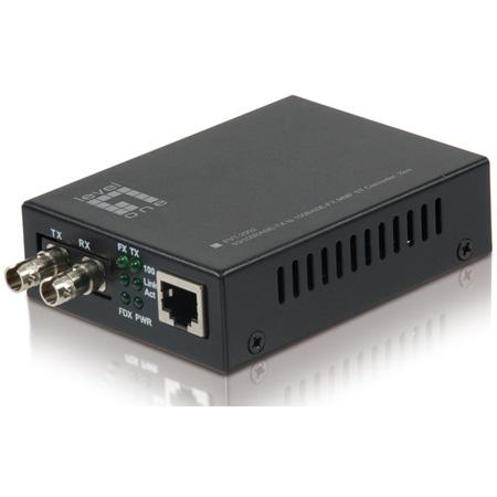 LevelOne FVT-2002 RJ45 to ST Fast Ethernet Media Converter - Multi-Mode Fiber - 2km