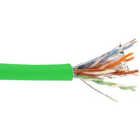 Liberty 24-4P-P-L5SH-GRN Category 5e F/UTP EN Series Plenum 24 AWG 4 Pair Shielded Cable - Green 1000 Feet