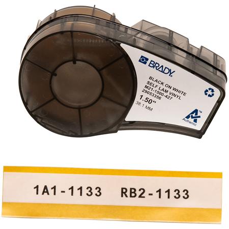 Brady M21-1500-427 1.5 Inch x 14 Ft. BMP 21 Mobile Printer Labels