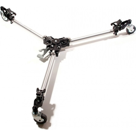 Manfrotto 181 Folding Auto Dolly for Twin Spiked Metal Feet Tripods - Silver