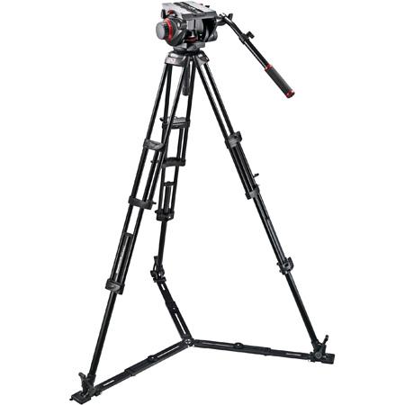 Manfrotto 509 HD Fluid Video Head & 545GB Aluminum Twin Leg Tripod