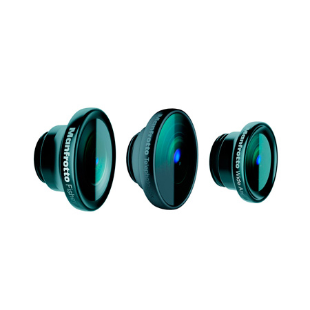 Manfrotto MOKLYP5S Set of 3 Lenses for iPhone 5/5s