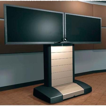 Middle Atlantic VTC-5670D Mobile Videoconferencing Cart - Dual 56-70 Inch