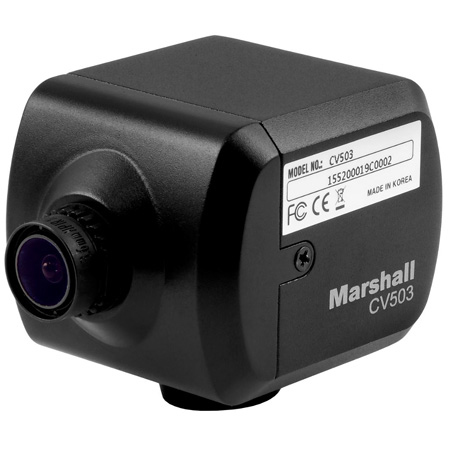 Marshall CV503 Miniature HD Camera for video capture  (3G/HD-SDI)  - RS485 Adjustable and Audio Embedding Ability