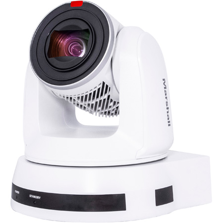 Marshall Electronics CV630-IPW UHD30 IP PTZ 30x Optical Zoom 8.5mp (1/2.5 Inch) Camera (4.6 135mm) - White