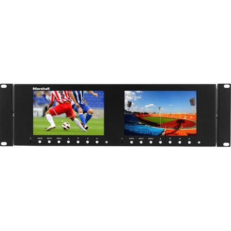 Marshall M-LYNX-702 7 Inch Rackmountable 1024 x 600 Dual LCD Display Monitor - Version 3
