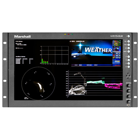 Marshall V-R173-DLW 17 Inch Native HD Resolution IMD LCD RM Monitor - Waveform & Vectorscope Displays