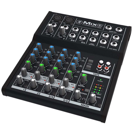 Mackie Mix8 Affordable 8-Channel Compact Audio Mixer