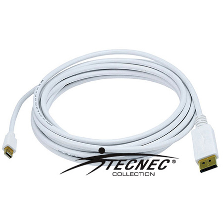DisplayPort to Mini DisplayPort - Male-Male - 3FT 32AWG - White