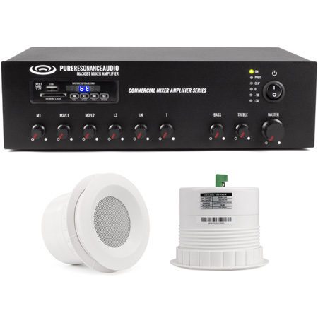 Pure Resonance Audio MDSS-2C3MA30BT Auxiliary System with 2 C3 Speakers & Amplifier with Bluetooth