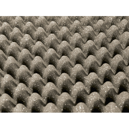 Markerfoam 54x54 UL94 Sound Absorption Acoustic Foam Panels - 3 Inch Gray