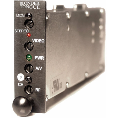 Blonder Tongue MICM-45S Module Sereo AV Modulator 45dB 54-600 MHz Channel 8