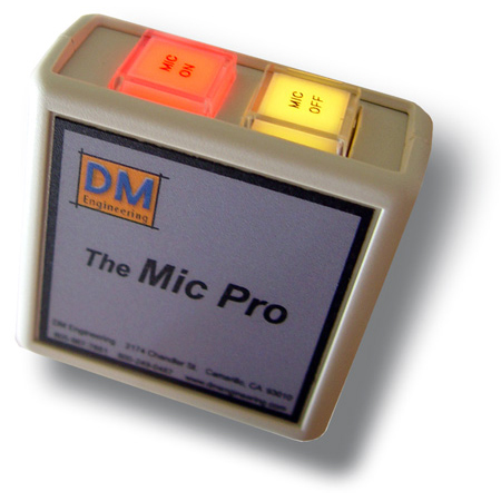The Mic Pro On/Off LED Lighted Mic Switching Module