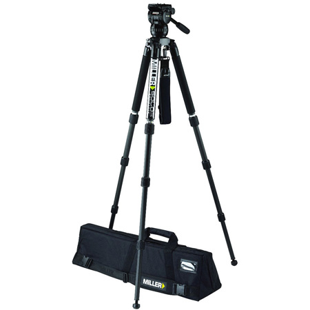 Miller 3714 CX2 Fluid Head with Solo 75 3-Stage Carbon Fiber Tripod System